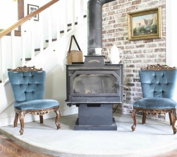 Feat Tutorial For DIY Concrete Hearth By She Holds Dearly Featured On @Remodelaholic