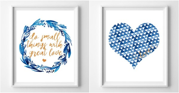 Feat Non Traditional Valentine's Day Art Print Free Printable @Remodelaholic