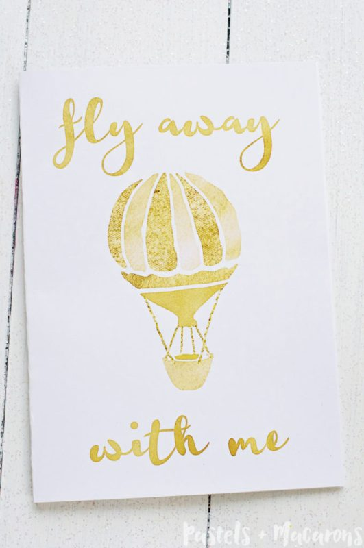 Non Traditional Valentine's Day Art Print, Fly Away With Me, Yellow Bliss Road