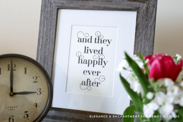 Non Traditional Valentine's Day Art Print, Happily Ever After, Remodelaholic