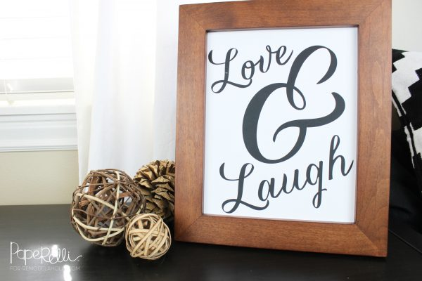 Non Traditional Valentine's Day Art Print, Love And Laugh, Remodelaholic