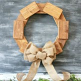 Scrap Project, Rustic Wood Wreath