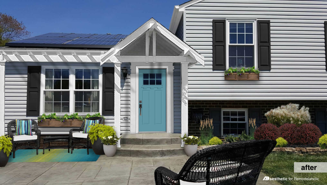 After | Split Level Curb Appeal | How to add character and architectural interest to the exterior of a split level home