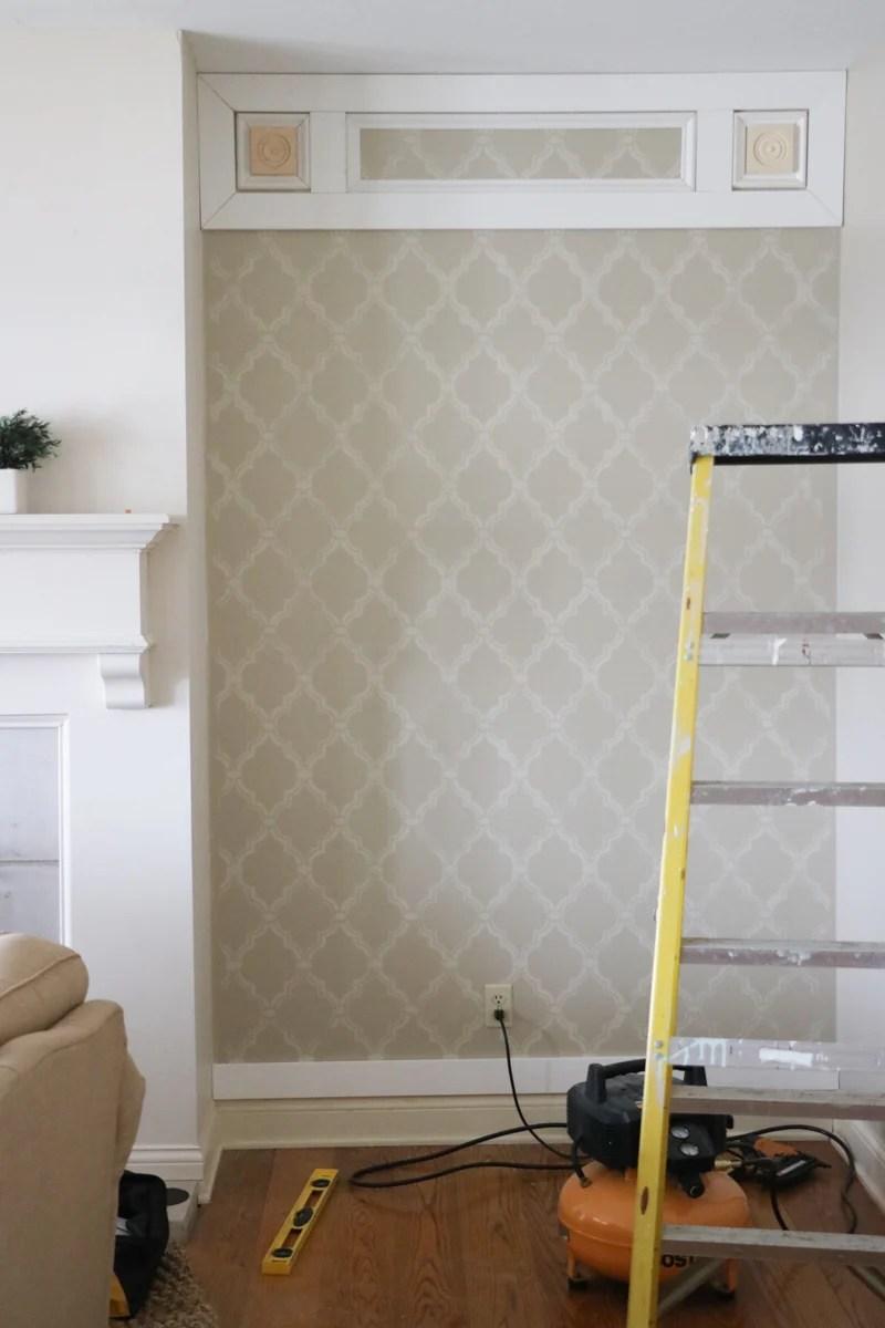 Elegant DIY Paneled Wall 3