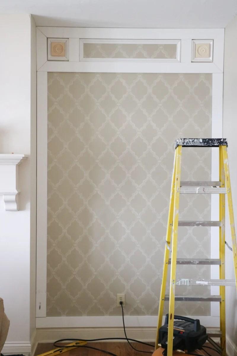 Elegant DIY Paneled Wall 5