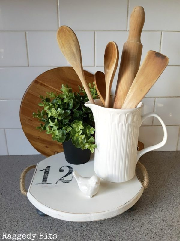 Farmhouse Repurposed Cheese Board Footed Tray 9 768x1024