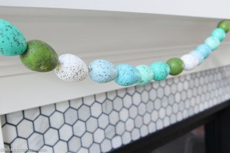 How To Make Your Own Speckled Easter Egg Banner Or Garland Cute Simple And Super Thrifty Easter Craft DIY 13