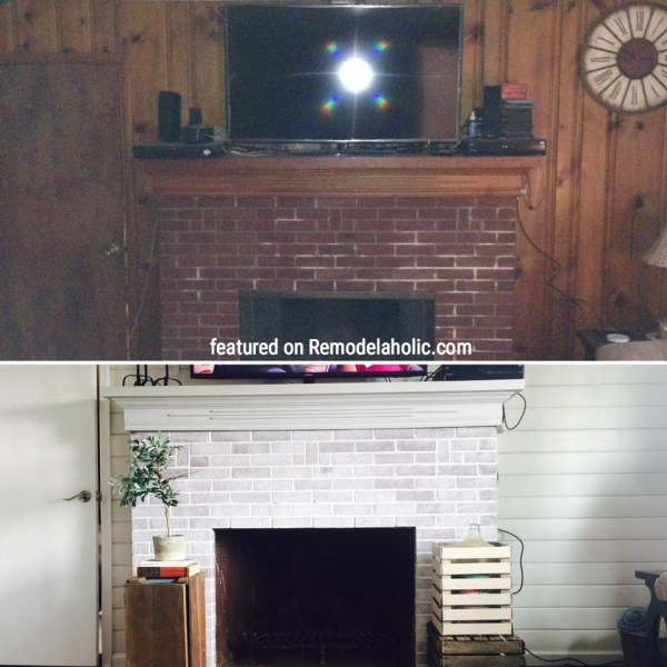 Lightened Up Fireplace And Shiplap Featured On Remodelaholic.com