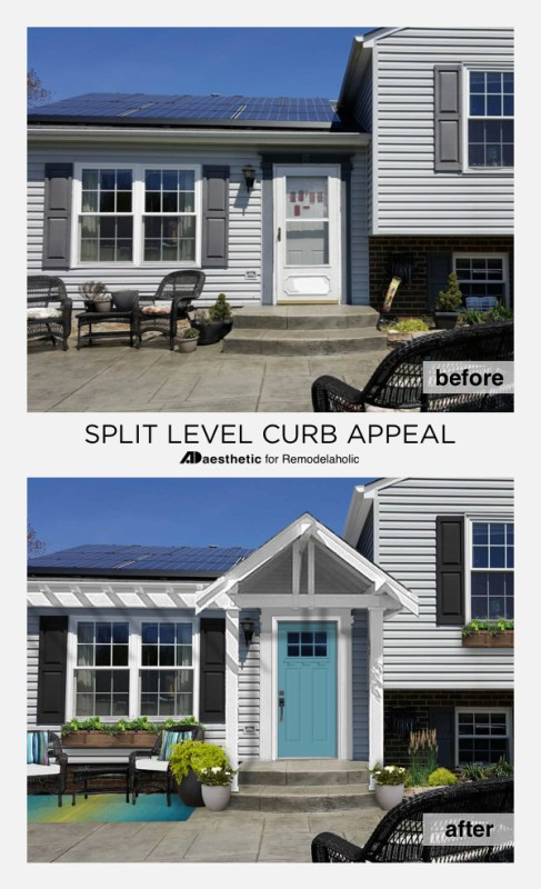 Split Level Curb Appeal