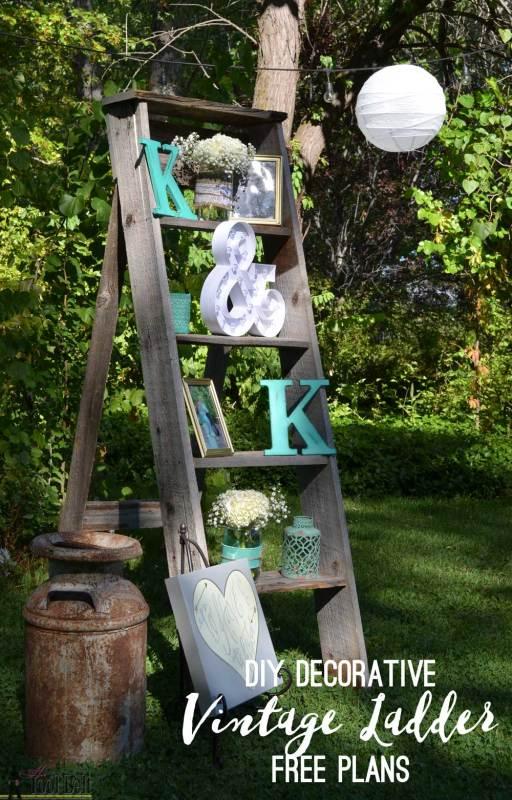 Barn Wood DIY Vintage Ladder Plans