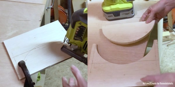 Cutting Out Bowl Shape Into Plywood, MyLove2Create