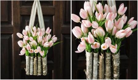 Diy Tulip Wreath Featured