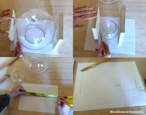 Measuring For Sides Of Bowl, MyLove2Create