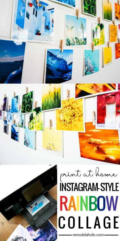 Print At Home Instagram Rainbow Collage Wall Decor | Inspired by Disney's Aulani Resort | Remodelaholic.com
