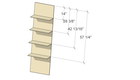 Remodelaholic Plywood Leaning Shelf Assembly 3