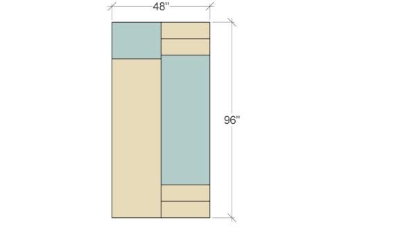 Remodelaholic Plywood Leaning Shelf