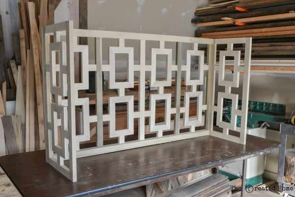 11 Fretwork Console Table With Plywood Top, DIY, By The Created Home Featured On @Remodelaholic