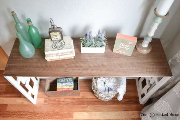 2 Fretwork Console Table Tutorial, By The Created Home Featured On @Remodelaholic