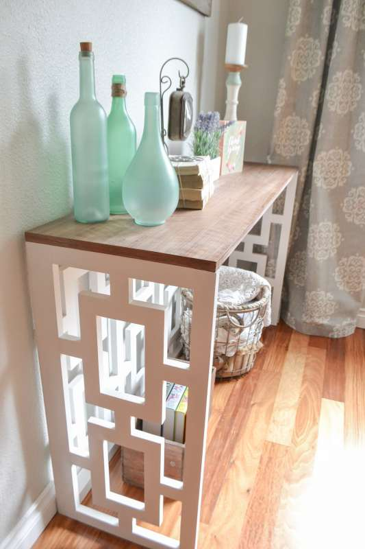 21 How To Build A Fretwork Console Table, By The Created Home Featured On @Remodelaholic