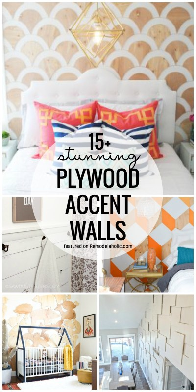 Create A Unique Look In Any Room By Creating A Plywood Accent Wall. 15+ Stunning DIY Plywood Accent Walls Featured On Remodelaholic.com