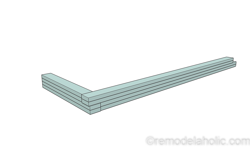 DIY Modern Plywood Bench Tutorial Half Lap Construction @remodelaholic 15
