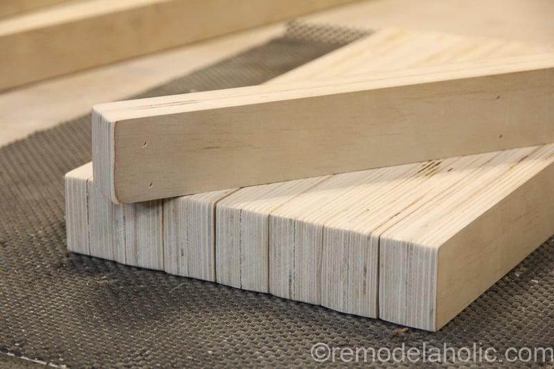 DIY Modern Plywood Bench Tutorial Half Lap Construction @remodelaholic 25