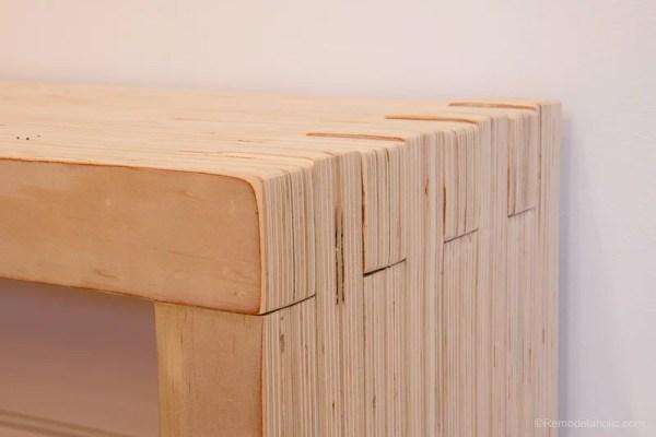 DIY Modern Plywood Bench Tutorial Half Lap Construction @remodelaholic 4