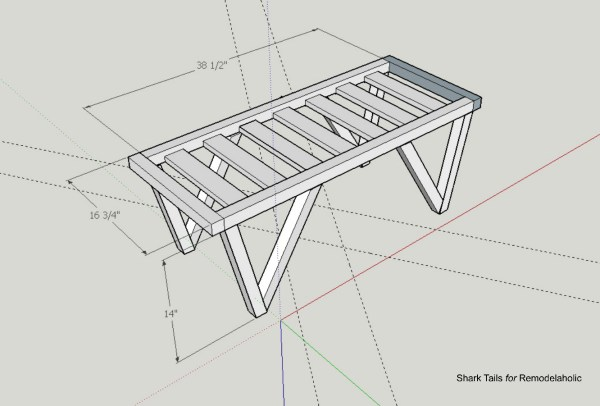 Triangle Bench.SharkTails.11