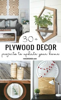 Use Plywood To Give Your Home A New Look With One Of These 30+ Plywood Decor Projects To Update Your Home Featured On Remodelaholic.com