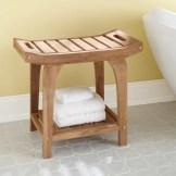 Bold Bathroom Design 05, Teak Shower Stool