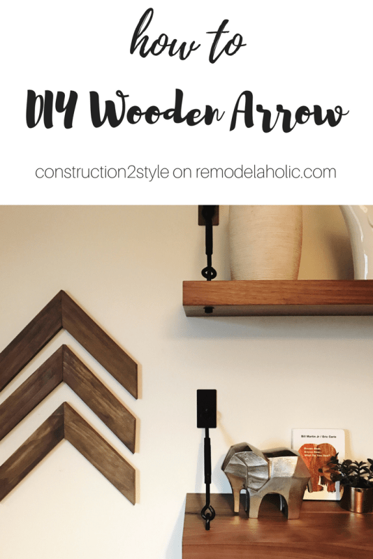 Best Remodelaholic | Easy DIY Wooden Arrow Wall Decor Tutorial YX88