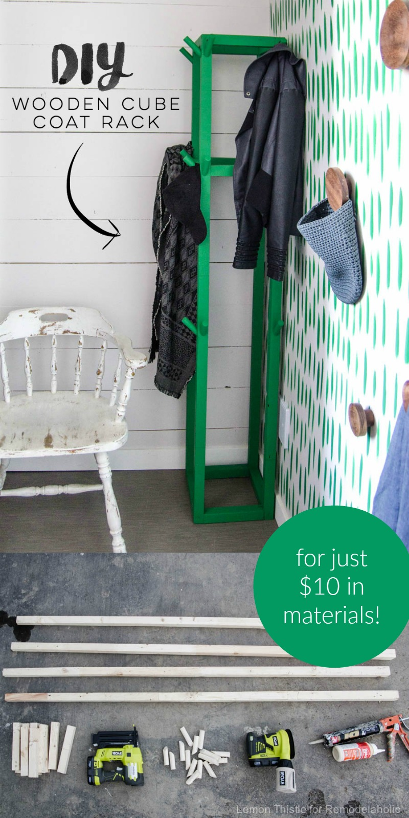 How To Build An Easy DIY Wooden Cube Coat Rack For Just 10 Dollars | Build