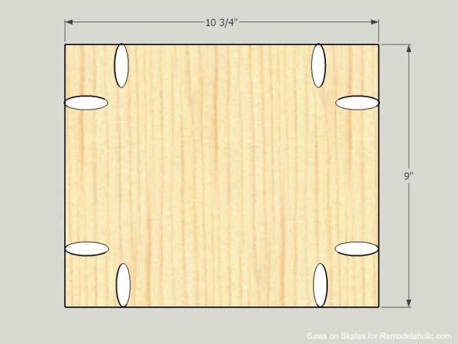 Ikea Hack Vanity Saws On Skates Side Panel