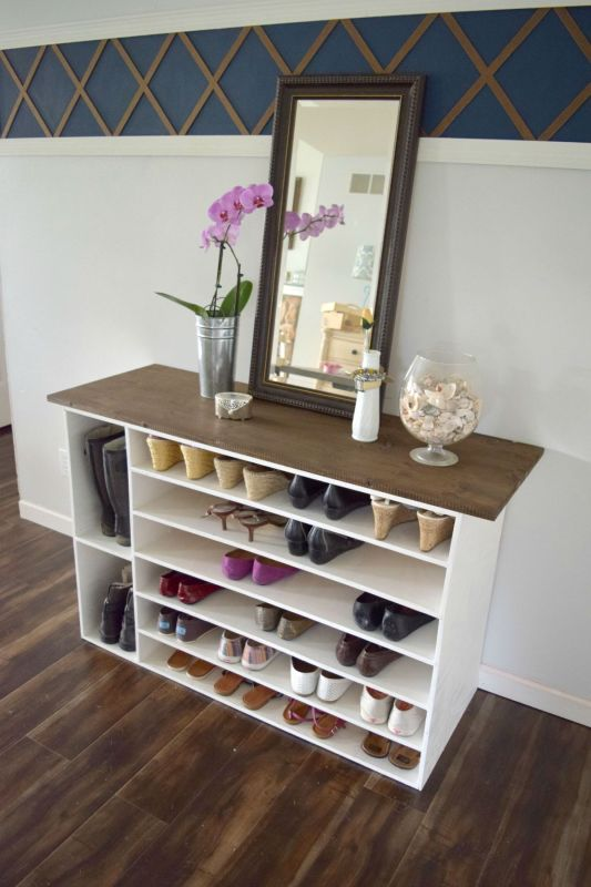 Plywood Projects, Shoe Organizer Ourhousenowahome