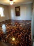 Plywood Sheet Flooring, Bob Schoenfelder, Burned Plywood Floor, Featured On @Remodelaholic