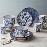 Better Homes And Gardens Piers Blue Mix And Match 16 Piece Dinnerware Set