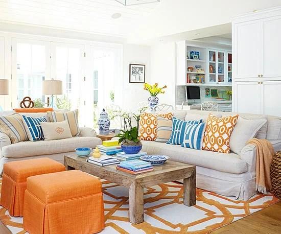 Colorful Living Room Via Better Homes U0026 Gardens
