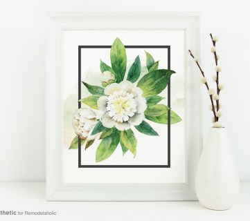 Free Printable: May Flowers Watercolor Floral Print