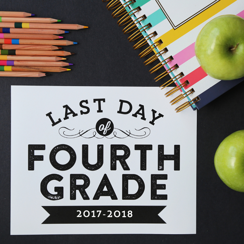 graphic regarding Last Day of School Signs Printable called Remodelaholic Printable Ultimate Working day of College or university Indicators (Current