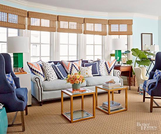 Light Blue Living Room Via Better Homes & Gardens
