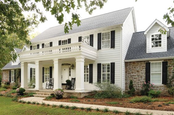 Adding curb appeal to a two story home