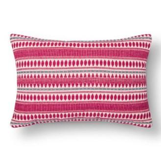 Bold Wallpaper Decor Tips, Pink Lumbar Pillow
