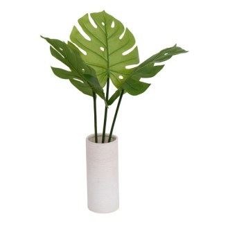 Coastal Dining Room Faux Banana Plant