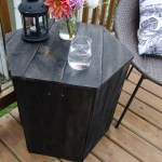 DIY Hexagon Side Table