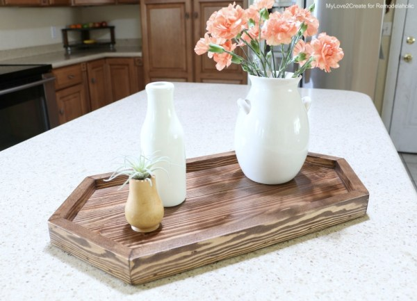 Hexagon Tray On Counter, MyLove2Create