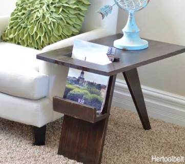 Build a DIY Mid-Century Modern Side Table and Magazine Holder