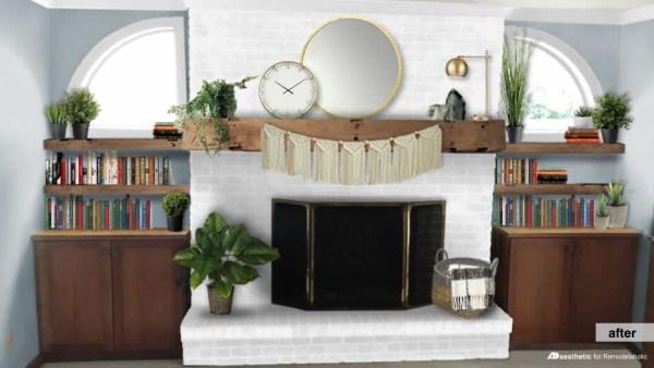 Brick Fireplace Facelift