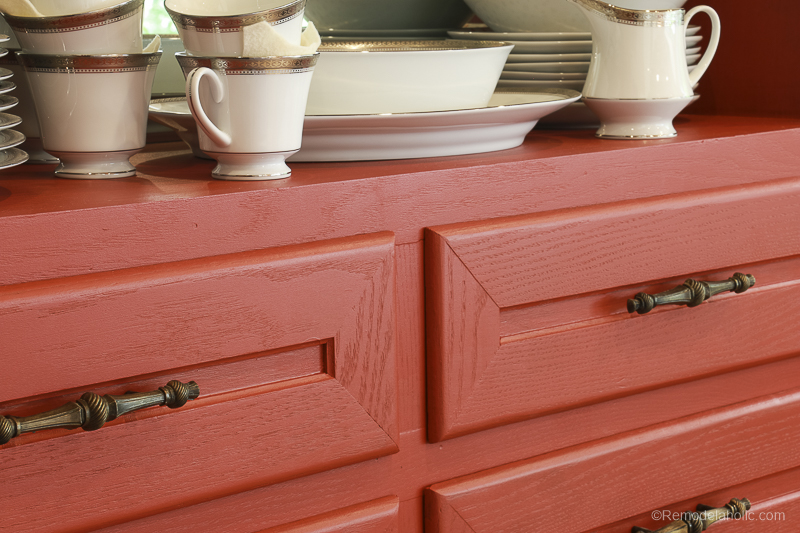 Beyond Paint In Poppy Painted Hutch @Remodelaholic 57