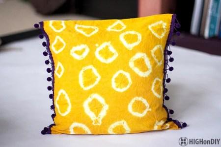 DIY Natural TieDye Fabric Pillow 2
