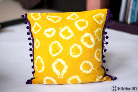 DIY Natural TieDye Fabric Pillow 2
